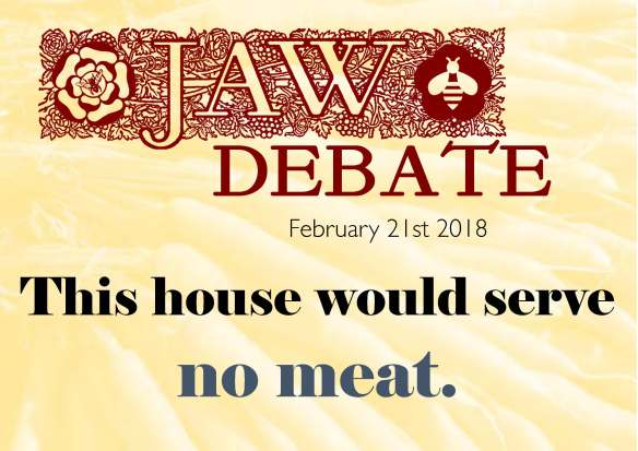 This house would serve no meat