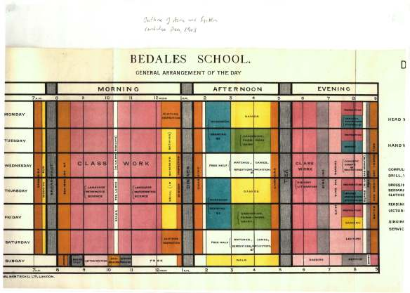 Timetable 1903
